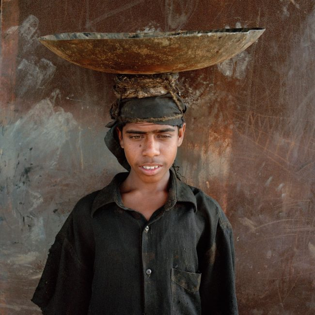 Worker, Chittagong, Bangladesh - ship breaking