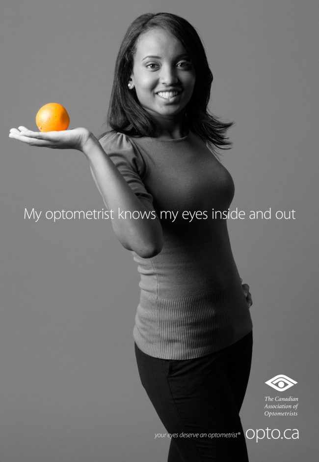 Advertisement for the Canadian Association of Optometrists