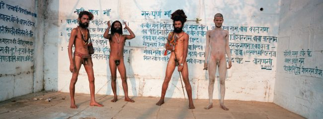 Four Sadhus, Varanasi, India