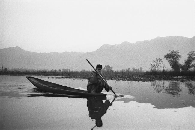 Man on Boat, Kashmir, India