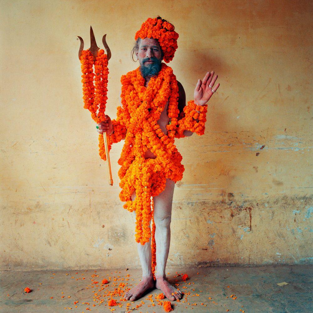 Marigold Man, Varanasi, India