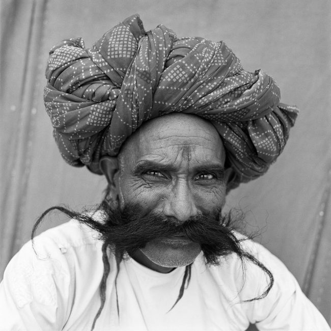 Man with Moustache, Pushkar, India