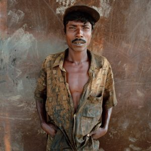 Worker at the Chittagong ship breaking yards