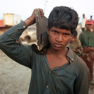 Child Worker at the Chittagong ship breaking yards